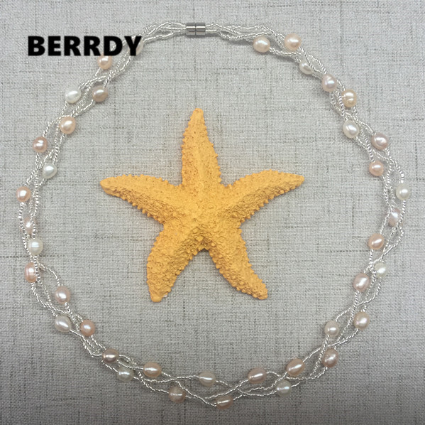 FREE SHIPPING Fashion Freshwater Pearl Necklace Girls'/Women's/Female's Jewellery Cheap Accessory, 2pcs/loton Sale!!!