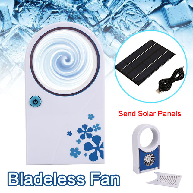 2019 Drop Shpping 2W 5V Solar Charger Panel Solar Panel Fan Portable Mini Travel Vaneless Fan for Air Conditioning
