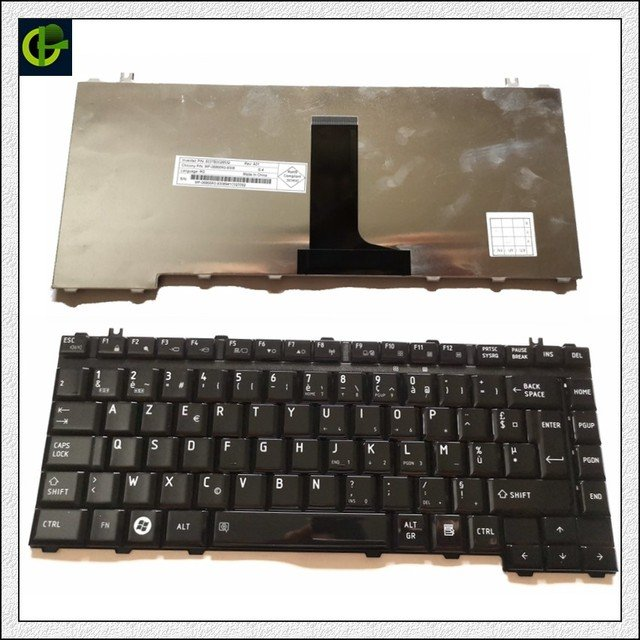 French Azerty Keyboard for Toshiba Satellite M205 M500 M505 L200 L205 L305 L305D L450 L450D L510 L515 L510D L310 L300D L305D FR