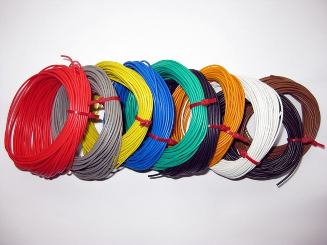 DX1210 10 ROLLS 1.0 AMP STRANDED EQUIPMENT WIRE 100 mtr