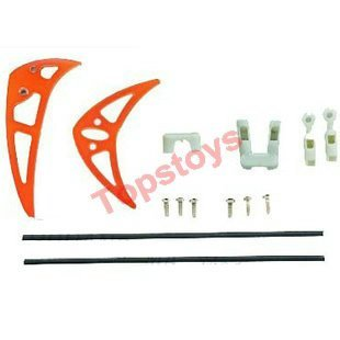 Free Shipping RC helicopter Double Horse spare parts 9103-24 tail decorative sets (Red)