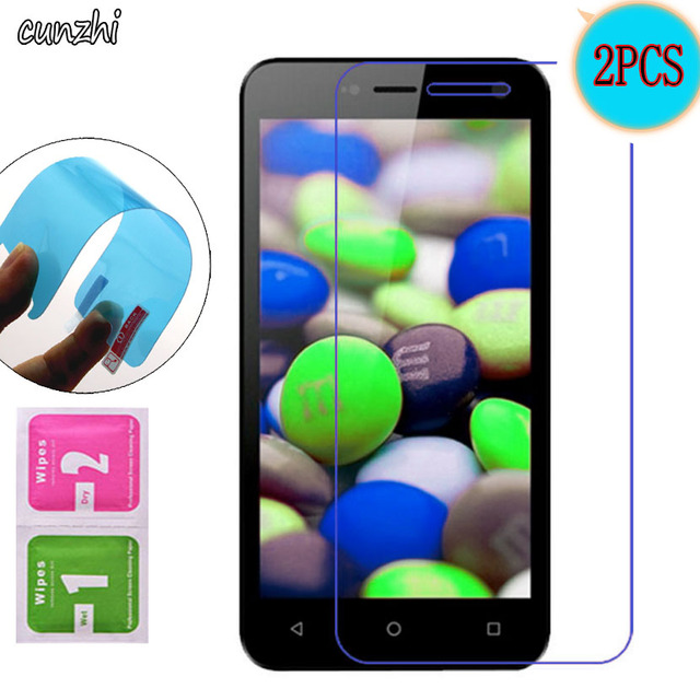 2PCS  Ultra Clear Soft TPU Nano-coated Tempered Explosion proof Screen Protector Film For Micromax Bolt Q341
