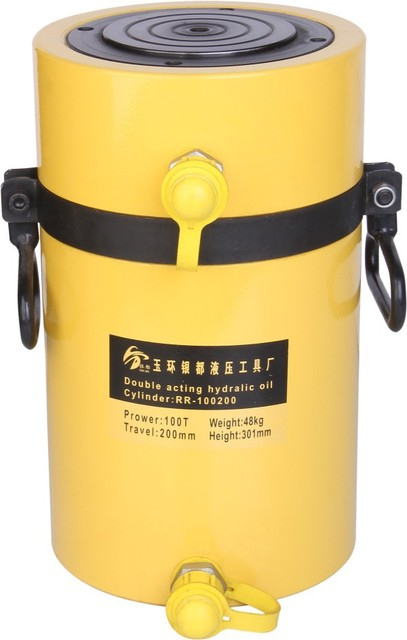 100T 200mm Double acting quick oil return hydraulic jack RR-100200