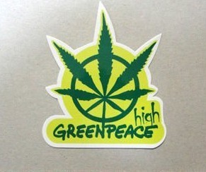 GREENPEACE logo sticker Free Shipping custom sticker personalized decal  High quality UV protection label