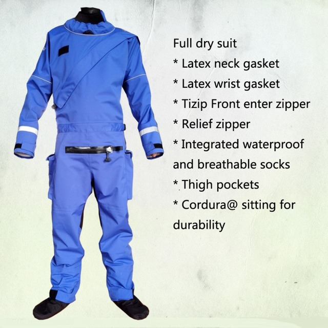 2016 front zipper full dry suit,latex neck and wrist gasket relief zipper kayak,whitewater,rafting,sailing,boating windsurfing