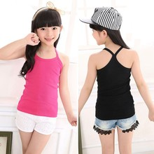 Summer Kids Girls Vest Underwear Camisoles Sleeveless Baby Girl Tanks Tops  Underpants Children Combed Cotton 7 Colors - buy inexpensively in the  online store with delivery: price comparison, specifications, photos