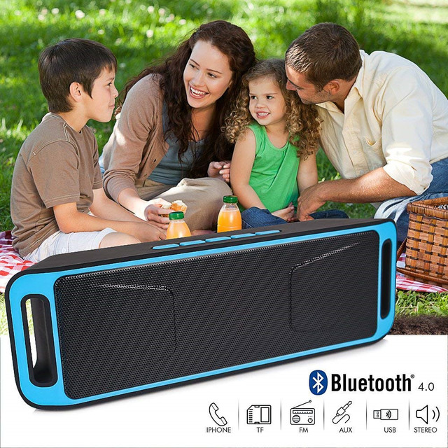 Outdoor  home Portable Bluetooth Speaker Wireless loudspeaker column Stereo with HD Audio and Enhanced Bass Built-In Dual Driver