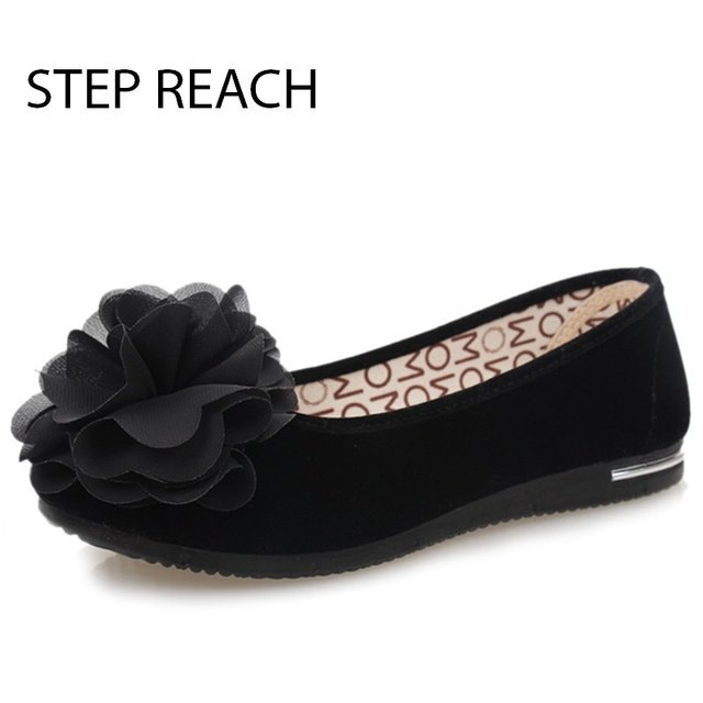 2017Mary Jane shoes  Spring New Fashion Suede Flat Shoes Round Non-slip Shoes Woman Black Casual Flat Women Shoes comfortable