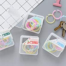 Suitable for scrapbooking loose-leaf book 1 box color binder hinge buckle multi-function calendar ring