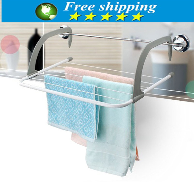 High quality Folding towel holder Storage rack Clotheshorse for Balconies/ parapets/ window bathroom accessories,Free shipping.