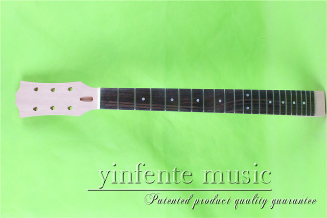 """L -00145 #  unfinished   24.75"""" Electric guitar neck fine quality  rosewood   fingerboard"""