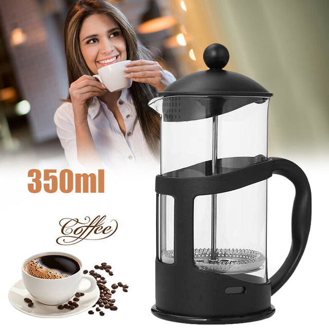French Coffee Pot 350ml Heat-Resistant Elegant Filtration  Coffee Maker Filter Portable Durable Glass Coffee Pot Drop Shipping