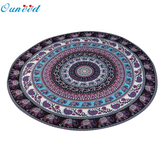 Round Beach Pool Home Shower Towel Blanket Table Cloth Yoga Mat Wonderful35%