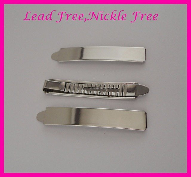 """10PCS 1.3CM*7.2cm 2.85"""" Silver finish Plain Metal Slide Bobby pins at lead free and nickle free,metal hair barrettes clips"""