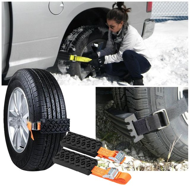 Tire Chain Automobile Saloon Car Wheel Universal Accessories Emergency Tire 2PCS Rubber Nylon Winter Belt Mud Chain