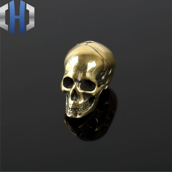 Paracord Beads Brass Soul Skull Modeling Pure Copper Pendant Rope Handmade EDC Accessories