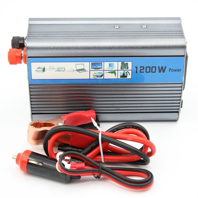 Free shipping 1200W 1200 WATT Modified Sine Wave Car Boat 12V/24V DC In 220V AC Out Power Inverter