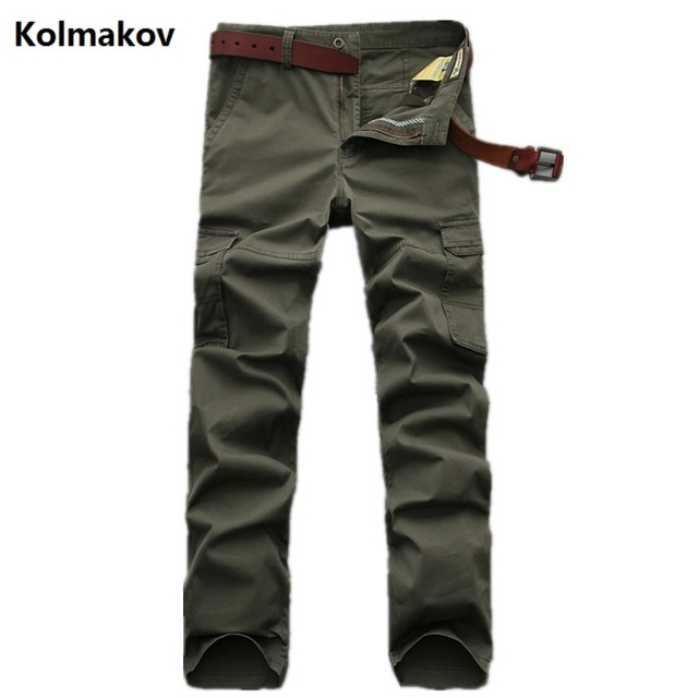 Kolmakov 2017 new arrival trousers men's casual style  jeans men high quality 100% cotton jeans and cargo pants size28-42
