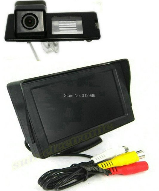 CCD Car Rear View Reverse Parking Camera + LCD Monitor Screen Kit for Renault Fluence Duster