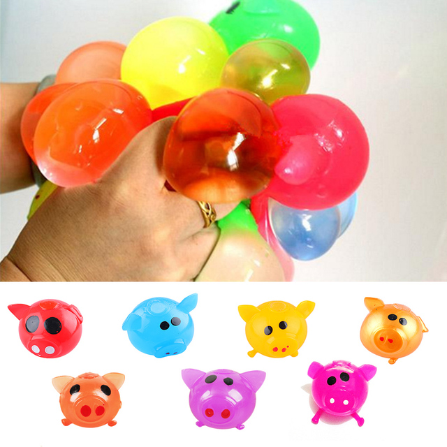 Drop Shipping Antistress Decompression Splat Ball Vent Toy Smash Various Styles Pig Toys Slime Gadget Funny Toys Christmas Gifts