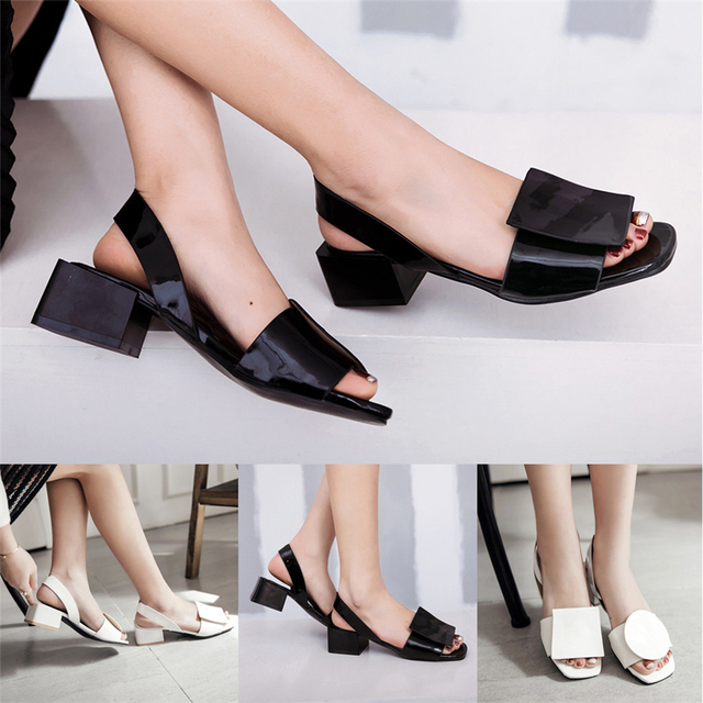 Summer Women's Sandals Fashion High Heels Slip-On Sandals Casual Roman SandalsWear-resistant Casual Shoese For Girl  40**