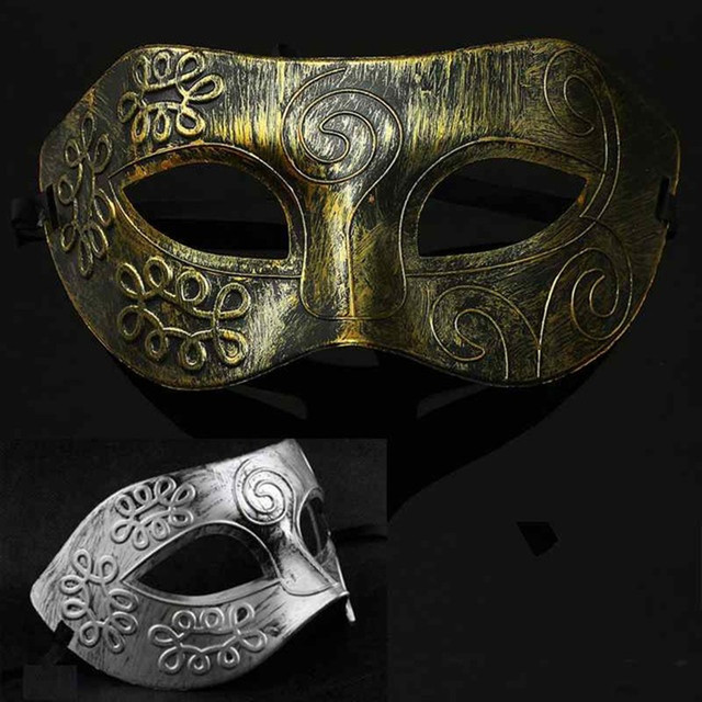 New 1pc Men Retro and especiallyBurnished Venetian Mask Halloween Masquerade Party Eye Mask hot sell product in2018 drop ship