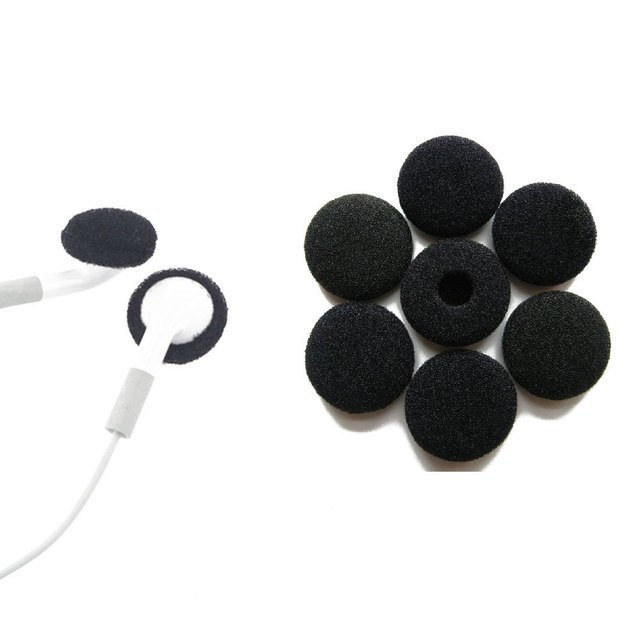 10 Pairs 15mm Replacement Earbud Tips Soft Sponge Foam Cover For Samsung HTC Headphones Earphones Accessories