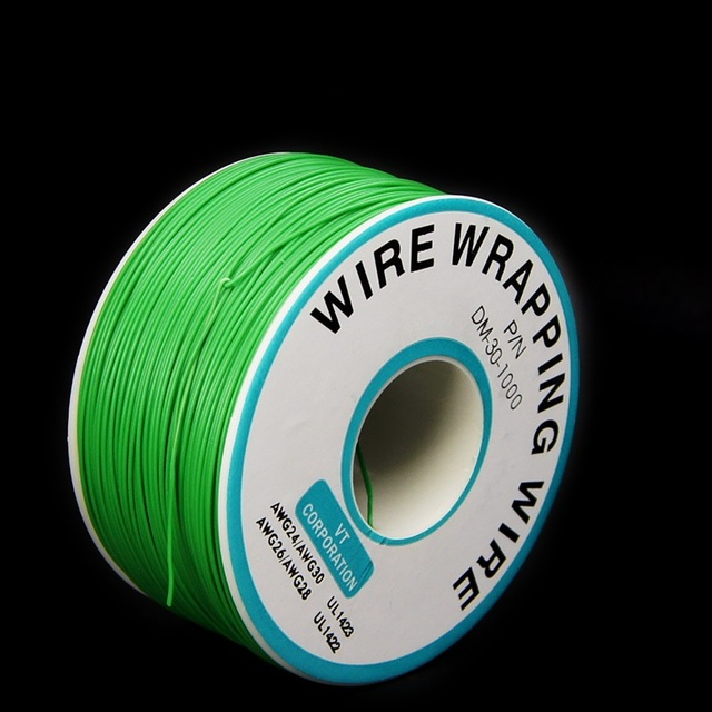 EziUsin Welding cable PCB Jumper Circuit Board 0.2mm Wire-Wrapping Electronic Wire 30AWG Cable 250m Green 30AWG 0.5mm