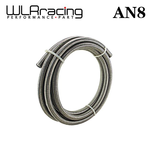 """WLR RACING - 5 Meter AN8 8AN AN-8 ( ID 11.2MM / 0.43"""" ) High Quliaty Stainless Braided Dry Sump Fuel oil line Water WLR7113"""