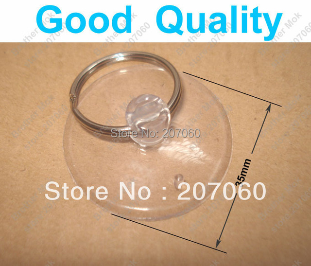 3.5cm Suction Cup + Key Ring Transparent Softgums Sucker Haptor Cupula Cups Opening Vacuum Chuck  for Phone 1000Sets/lot