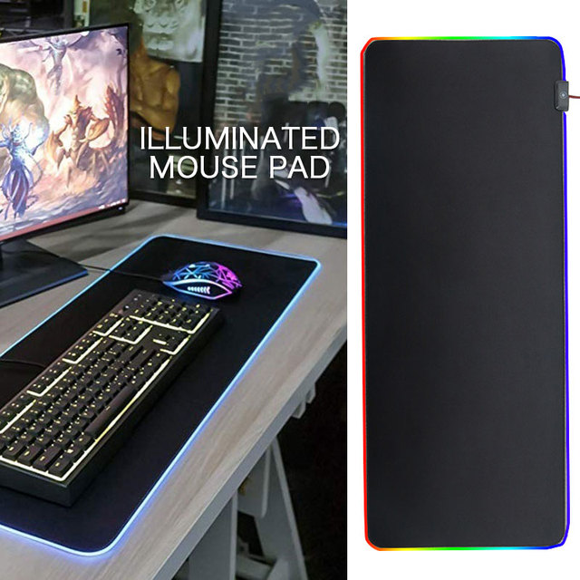 PVC Mice Mat Mouse Mat RGB Mouse Pad Gaming Extra Large Cushion Luminous mouse cushion Very large mouse pad