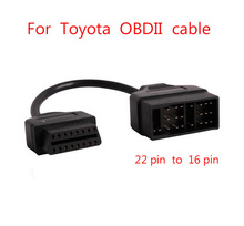 Диагностический кабель для Toyota OBD Connect 22 Pin 22 Pin Male к OBD2 OBDII DLC 16 Pin 16 Pin Female