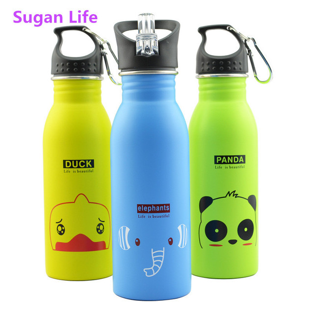 500ml Travel Water Bottle Candy Color School Office Bottle Cup Thermos Outdoor Portable Sports Cycling Camping Bottle With Hook