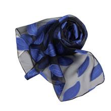 Elegant design Ladies Shawl Organza Scarf Scarves women scarf autumn 2017 Women Leaves Printing Long Soft Wrap scarf #LREO