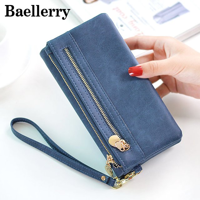 Pu Leather Women Wallet Long Purse Female Wallets Clutch Money Bag Zipper Hasp Pocket Card Holder Carteira Feminina WWS076-2
