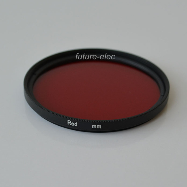 Red 30 37 40.5 43 46 49 Full Color Colour Camera Lens Lenses Filter 30mm 37mm 40.5mm 43mm 46mm 49mm For Sony Minolta Sigma AB01