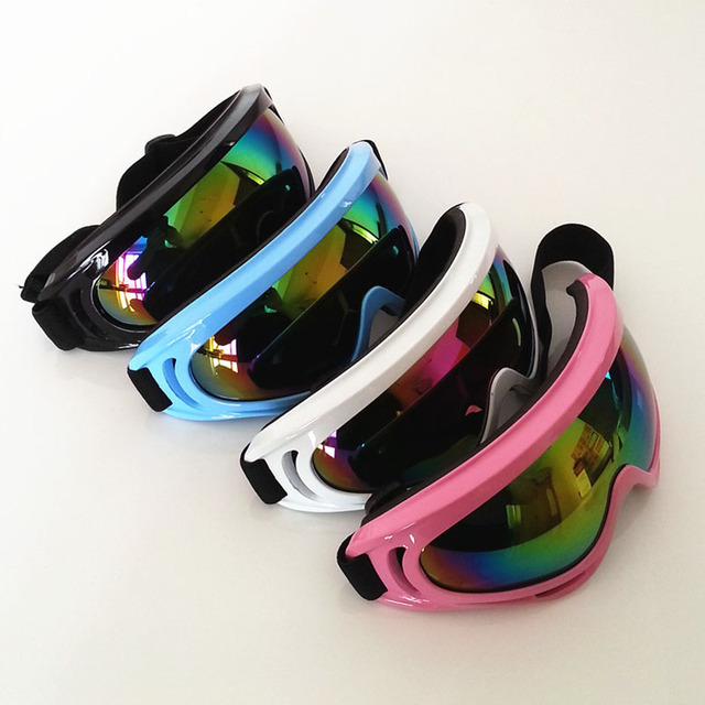 Wholesale ! Outdoor Windproof Color lens Glasses Ski  Dustproof Snow Glasses Men Motocross Riot Control Downhill Eye Glasses