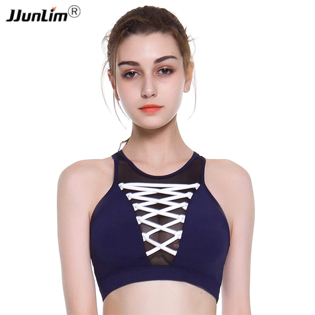 Women Push Up Sports Bras Padded Yoga Bra Wirefree Shockproof Gym Exercise Fitness Bra Athletic Running Top Vest Sports Tops