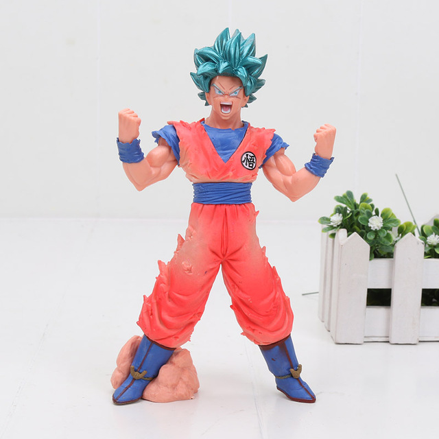 anime Son Goku BOS blood of saiyans super saiyan god super saiyan goku vegata Dragon ball super figure blue hair Gokou toy