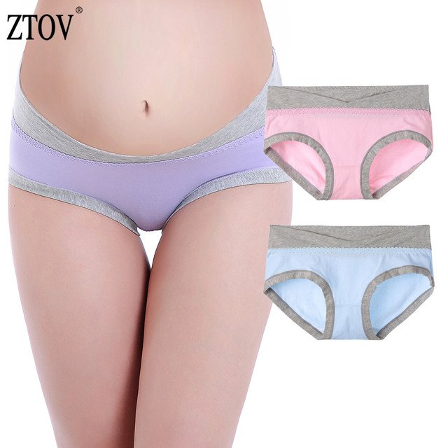 ZTOV 2Pcs/lot Maternity Panties Pregnancy Underwear Belly Support Briefs For Pregnant Women Low Waist UnderPants Panty XXL XXXL