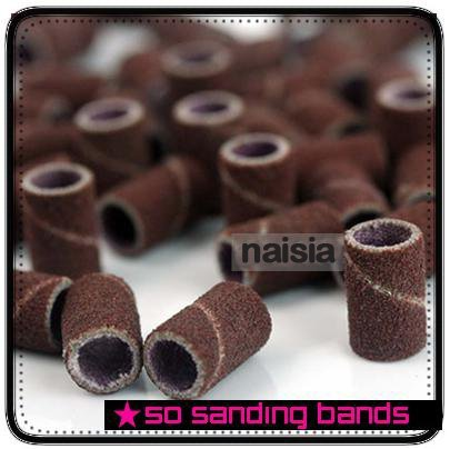 """1000pcs coarse sanding bands for electric nail drill for professional manicure pedicure,80"""" 12""""180""""grit"""