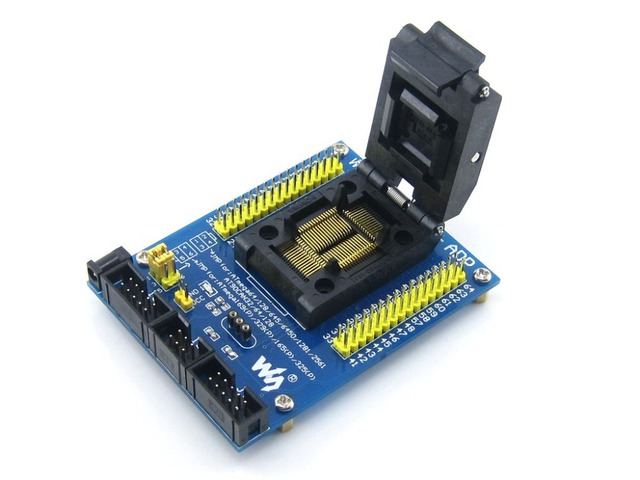 M64+ ADP ATmega64 ATmega128 ATmega169 mega64 mega128 mega169 TQFP64 AVR Programming Adapter Test Socket + Free Shipping