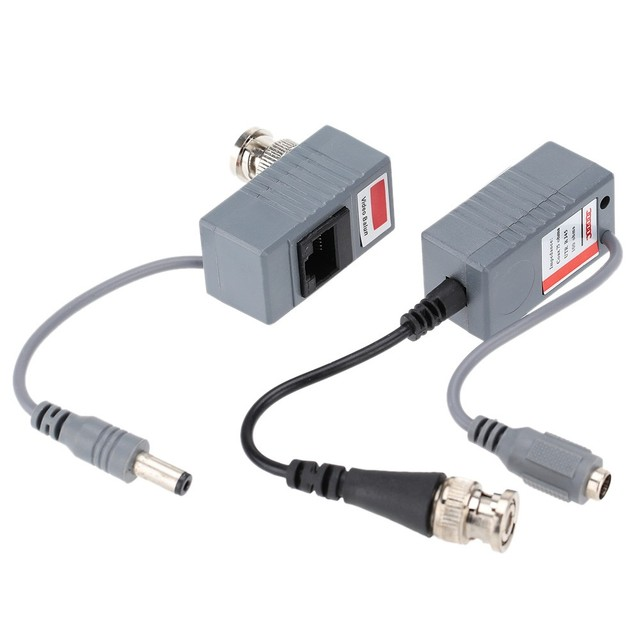 Yumiki CCTV Camera Video Balun Transceiver BNC UTP RJ45 Video and Power over CAT5/5E/6 Cable