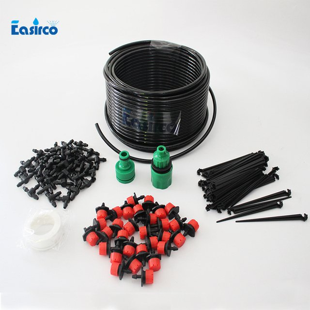 Micro Drip Irrigation System Plant Self Watering Garden Hose Kits with 20M Hose