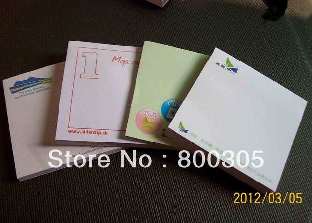 custom logo sticky  memo pad  note pad/notepad 75*75mm*25sheets 200pcs /lot