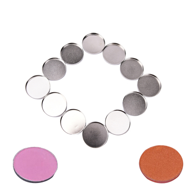 12 pcs 26mm Makeup Cosmetic Empty Aluminum Palette Cases Pans For Eyeshadow DIY Eye Shadow Container Pans Makeup Tool