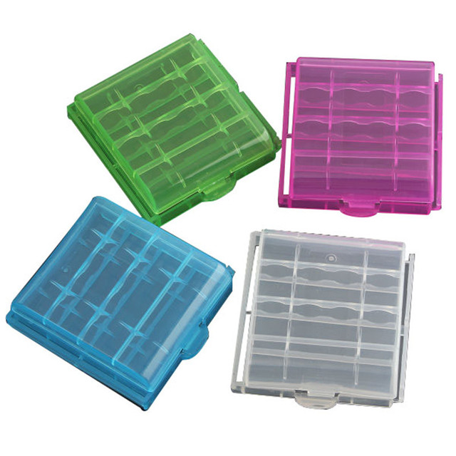 New Arrival 1pcs Plastic Storage Case Box Multi Colors For 4x 14500/AA AAA Li-ion Battery Led Flashlight Torch Lithium Batteries