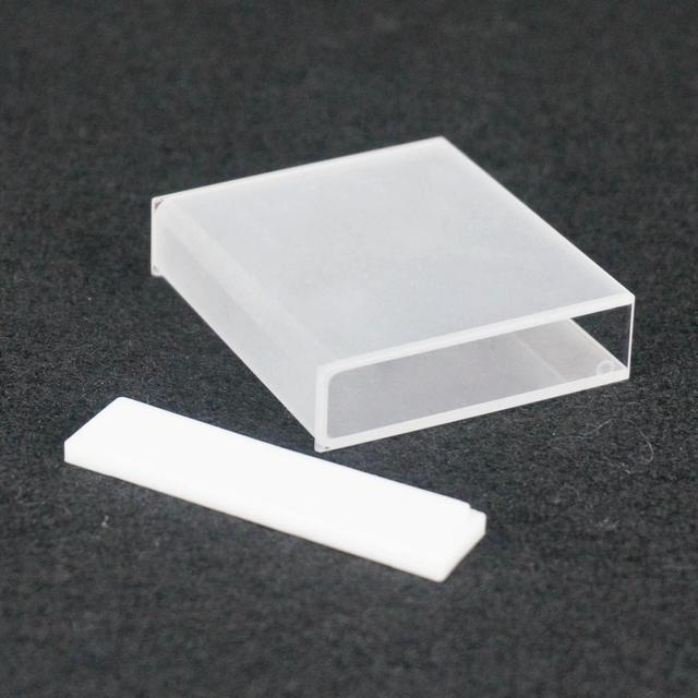 50mm JGS1 Quartz Cuvette Cell With PTFE Lid For Uv Spectrophotometers