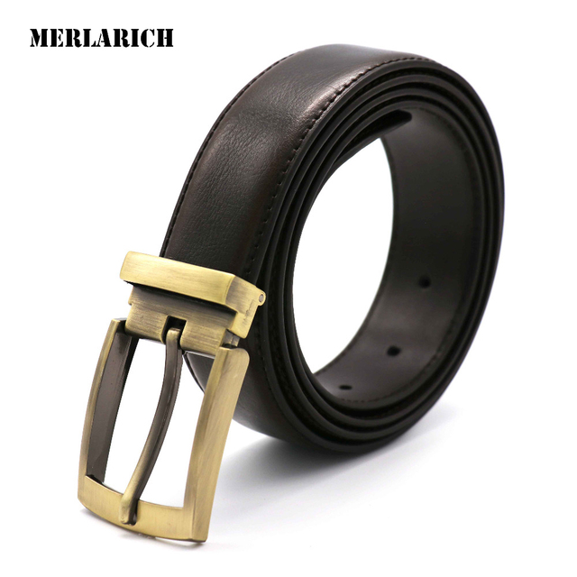 MERLARICH Brand Genuine Leather Belt Military Mens Belts Luxury Jeans Cowboy Male Belt Men Ceinture Dress Designed Freeshipping
