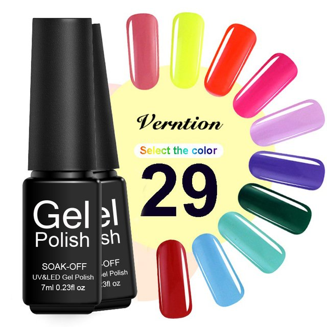 Verntion Lucky Gel Nail Polish Soak Off Semi Permanent Nude Color Gel Polish 8ml Professional Manicure Gel Lacquer Nail Art